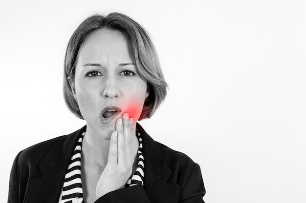 Woman having toothache Free Photo