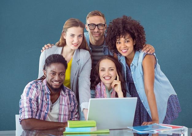 Woman higher education teamwork designer folded Free Photo