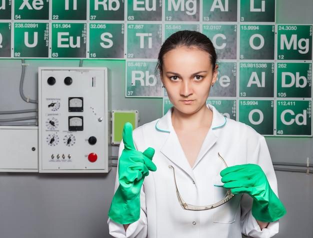 研究室の女性 Premium写真