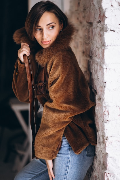 Woman model demonstrating winter cloths Free Photo