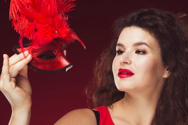 女、羽を持つ、マスク 無料写真