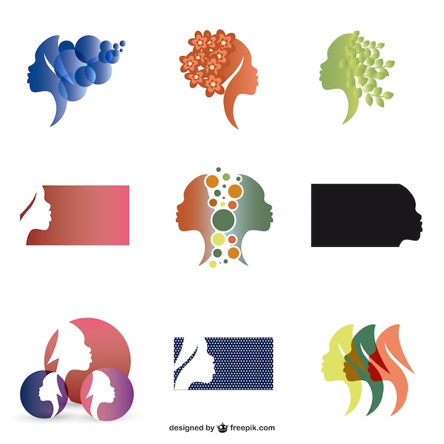 Woman Silhouette Logo Woman Profie Silhouette Logos