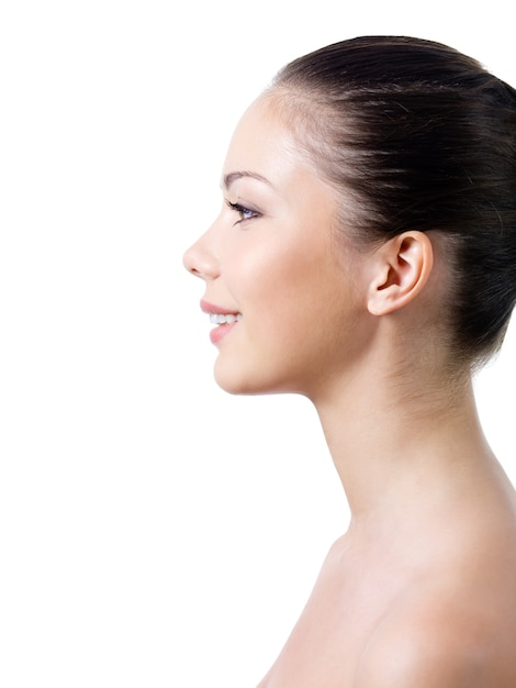 Woman's face in profile Free Photo