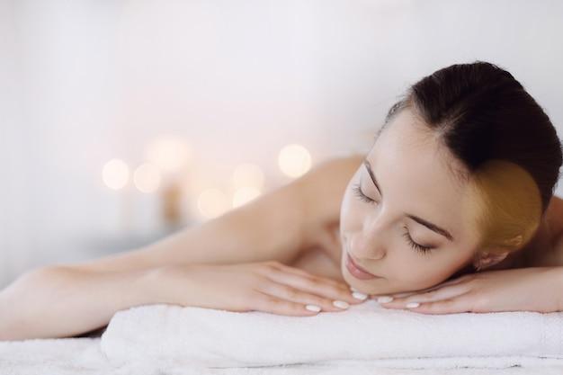 Woman in spa salon Free Photo