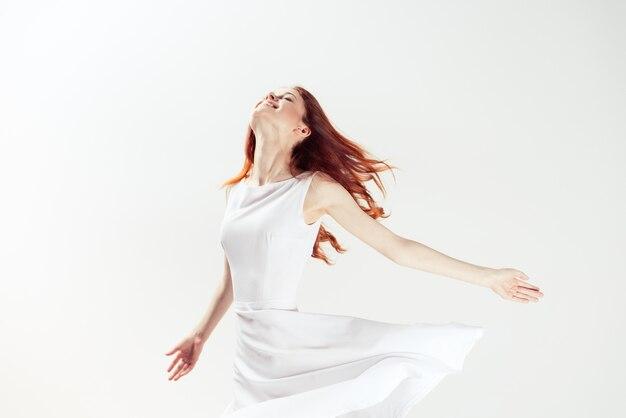 Woman in the studio posing Premium Photo