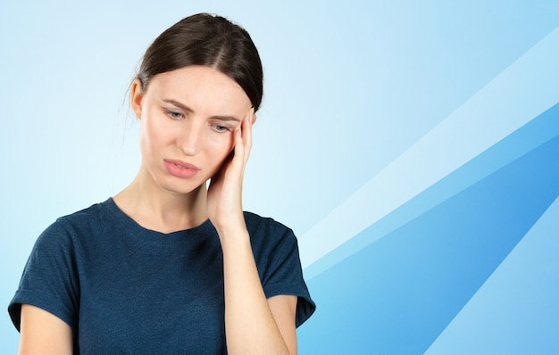 Woman suffering from toothache Premium Photo