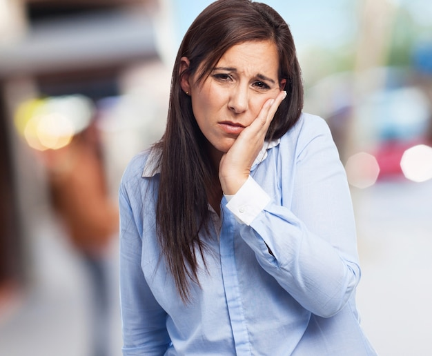Woman suffering a toothache Free Photo