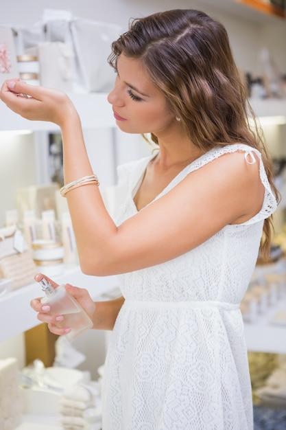 Woman testing perfume Premium Photo