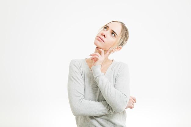 Woman thinking Free Photo
