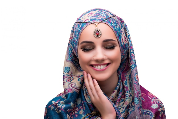 Woman in traditional muslim clothing Premium Photo