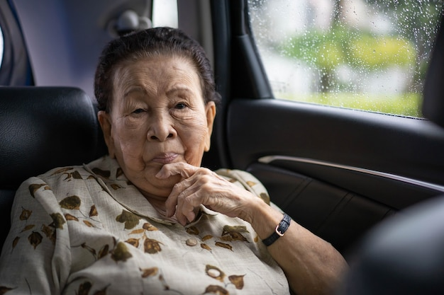 Woman traveling by the car Premium Photo