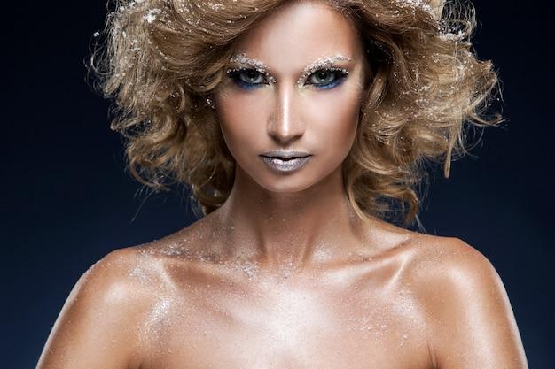 Woman with beautiful makeup Free Photo