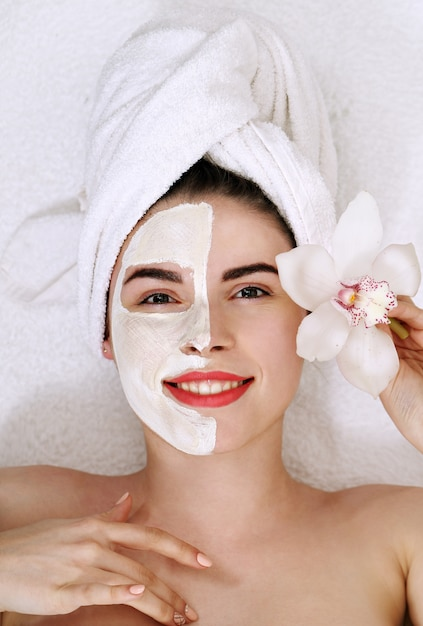 Woman with a mask on his face Premium Photo