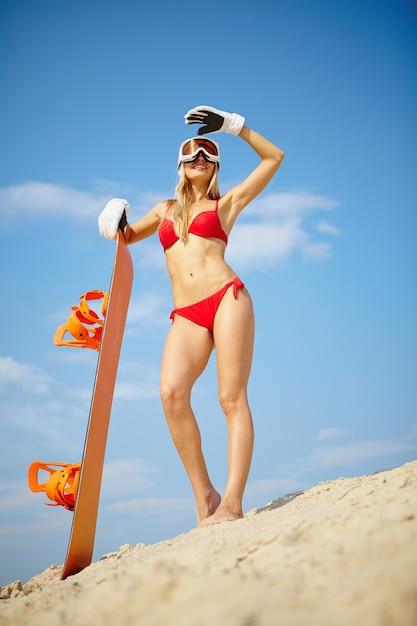 and snowboards Bikini