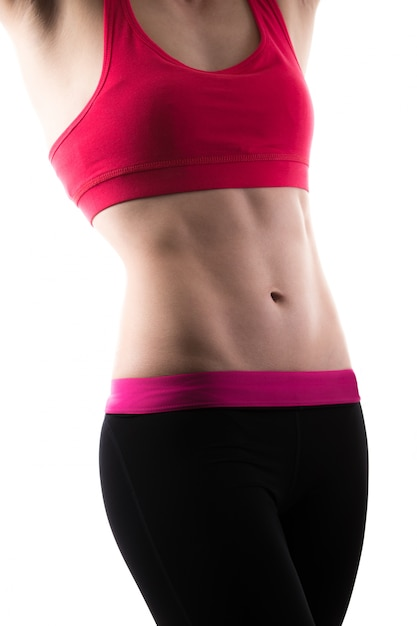 Woman with six-pack Free Photo