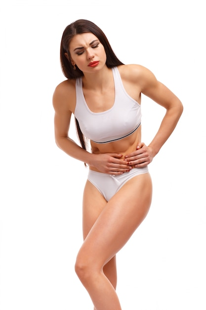 Woman with stomachache Free Photo