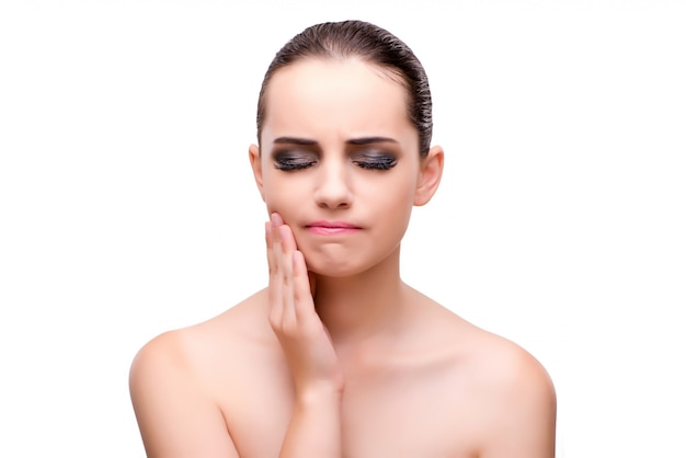 Woman with toothache Premium Photo