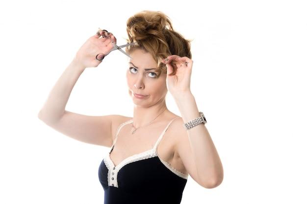 Womancutting челку Бесплатные Фотографии