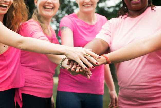 Women fighting breast cancer Free Photo