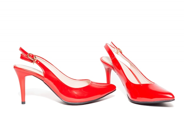 Women's red high-heeled shoes Premium Photo