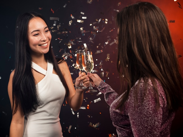 Women toasting at party for new year eve Free Photo