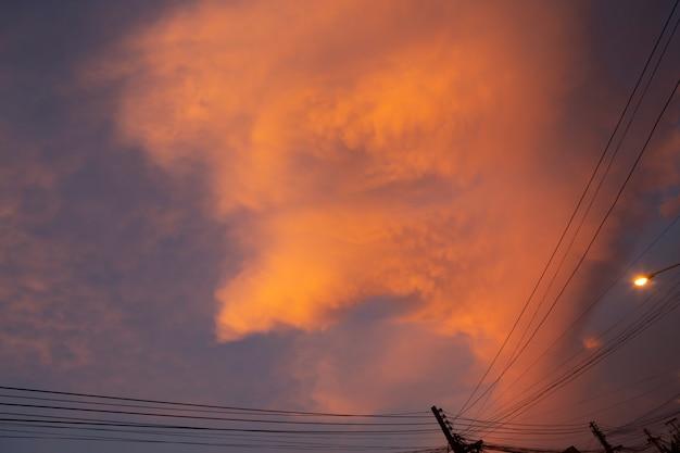 Wonderful sunset or sunrise. Premium Photo