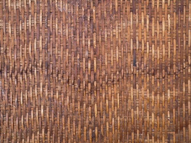 Wood basket texture background Premium Photo