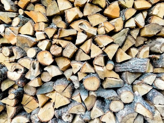 Wood logs texture Free Photo