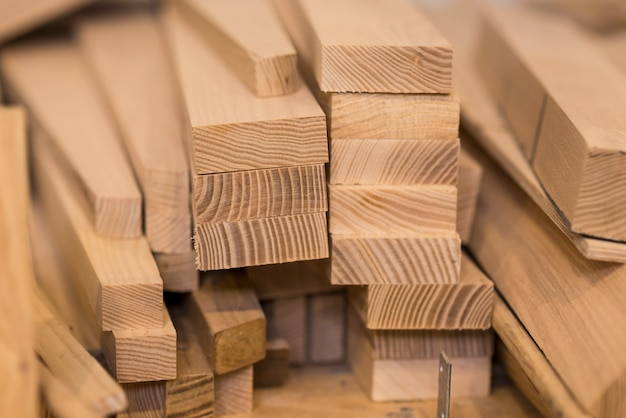 Wood timber construction material Free Photo