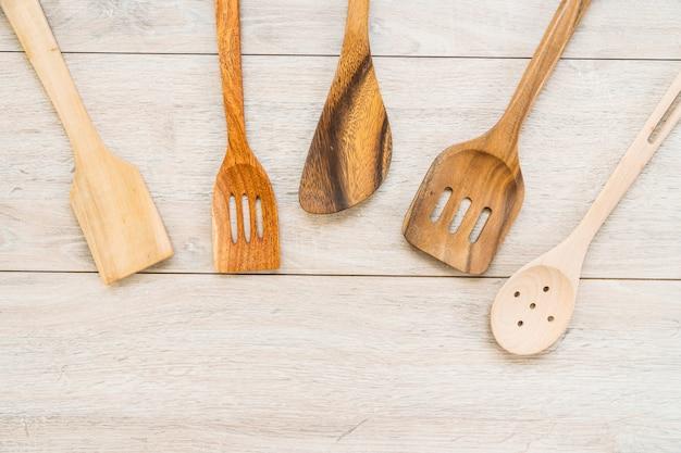 Wood utensils Free Photo