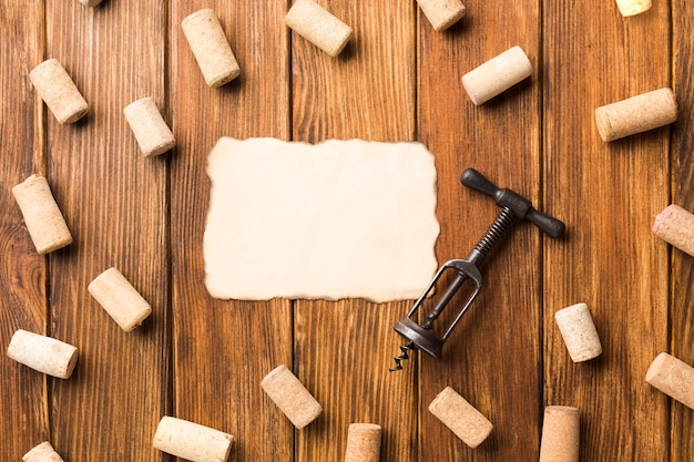 Wooden background full of corks Free Photo