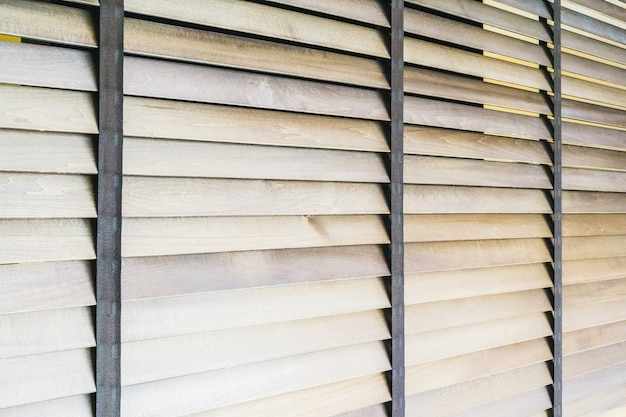 Wooden blinds and window Free Photo