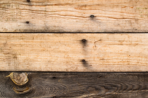 Wooden boards of natural colors. Premium Photo