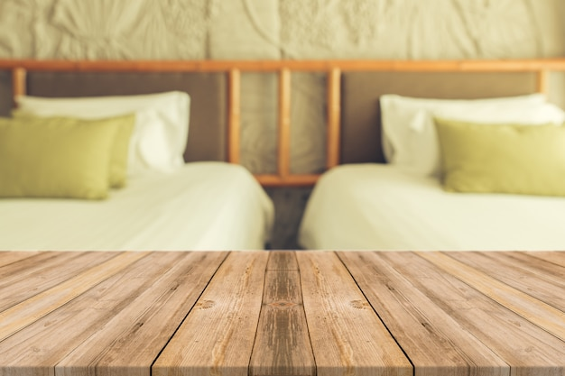 Wooden Boards With Two Bed Background Photo Free Download