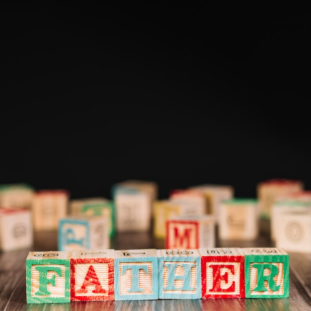 Wooden cubes with father title Free Photo