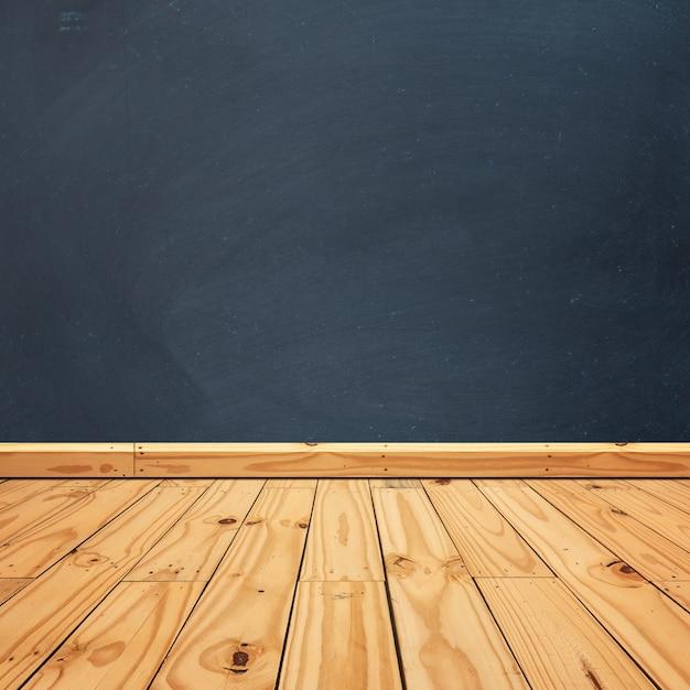 innovative wooden floor with a blackboard box