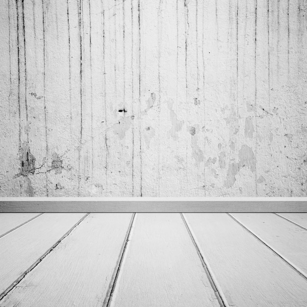 Wooden Floor With Dirty Concrete Wall Photo Free Download