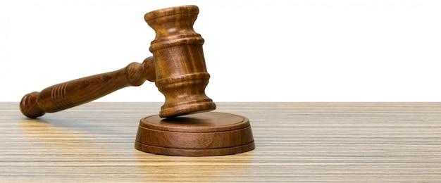 Wooden gavel Premium Photo