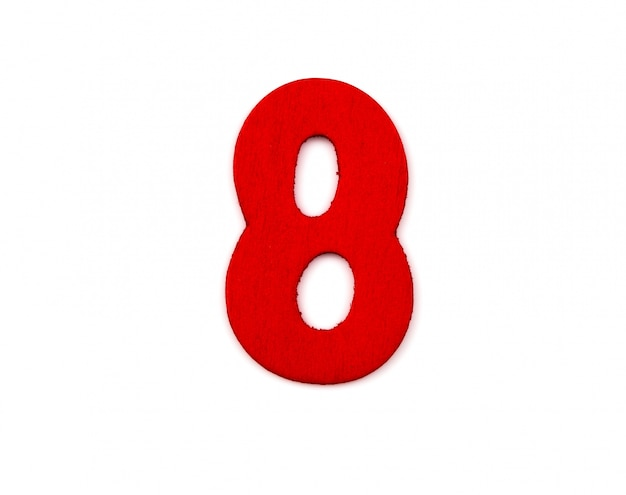Wooden number eight Free Photo