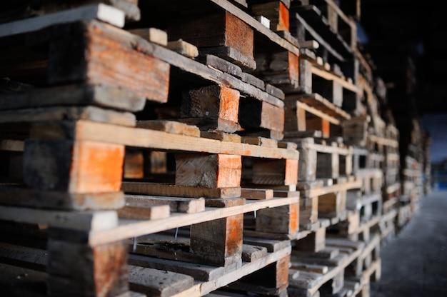 Wooden pallets Premium Photo