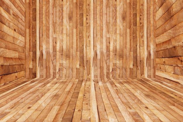 Wooden parquet texture of floor decoration inside room, empty sauna room