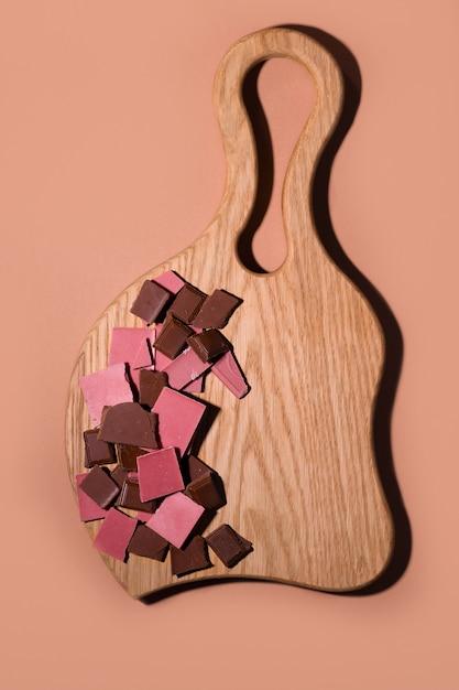 チョコレートのプラーク Premium写真