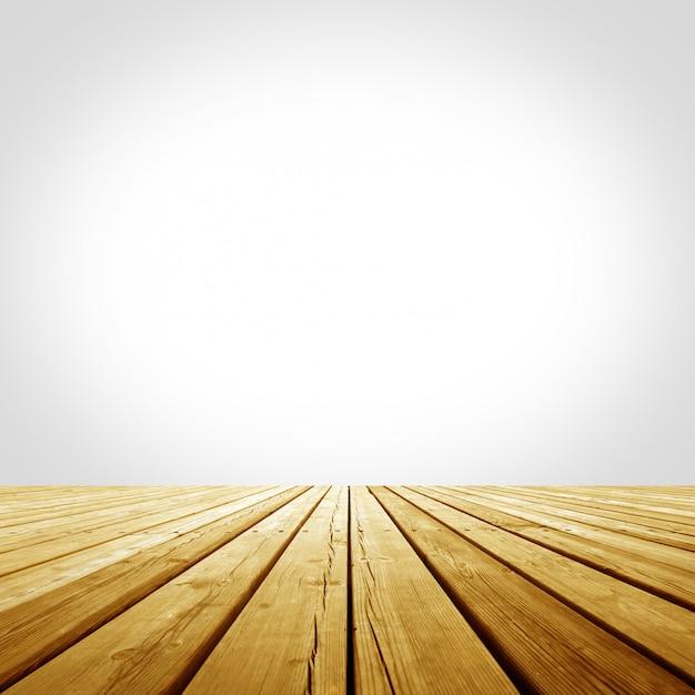Wooden platform Premium Photo