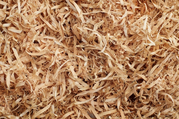 Wooden shavings background pattern Premium Photo