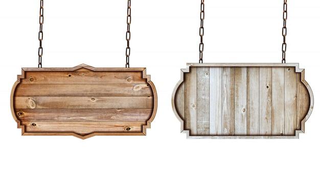 Wooden sign frame border vintage label design Premium Photo