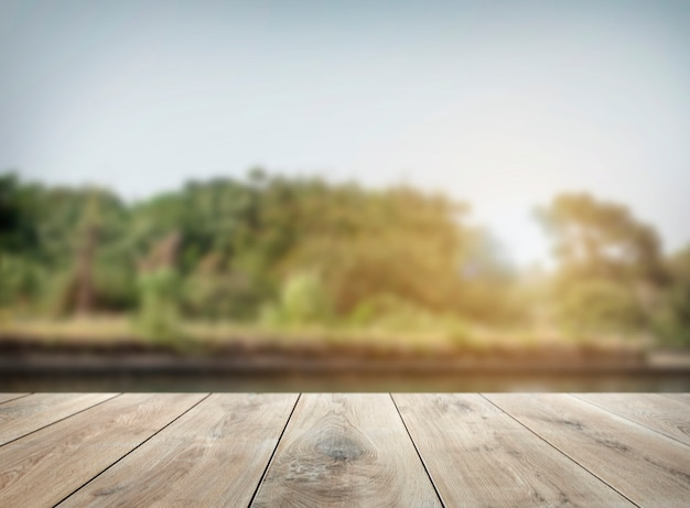 Wooden table product background Free Photo
