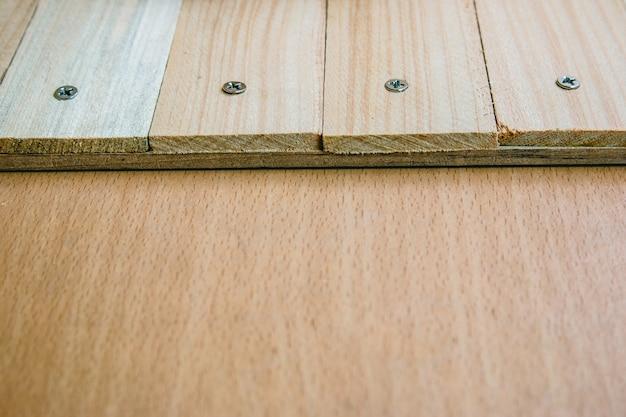 Wooden table texture background Premium Photo