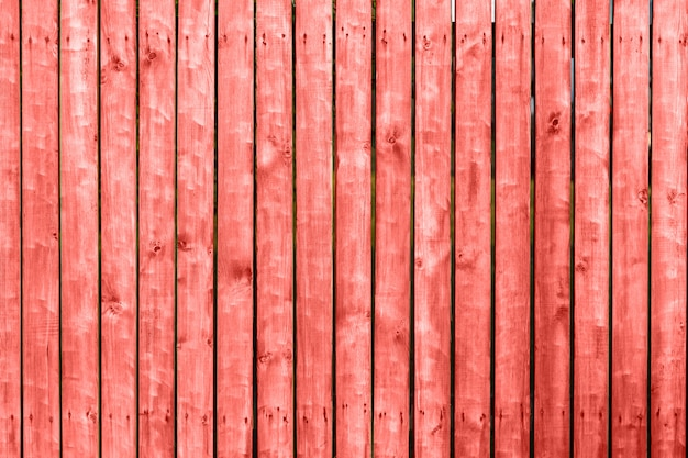Wooden texture of living coral color Premium Photo
