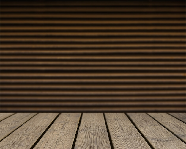 Wooden texture looking out to brown striped wall Free Photo