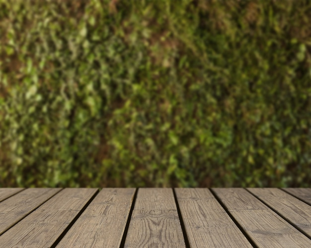 Wooden texture looking out to grass background Free Photo